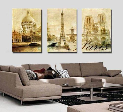 Модульные картины на стене