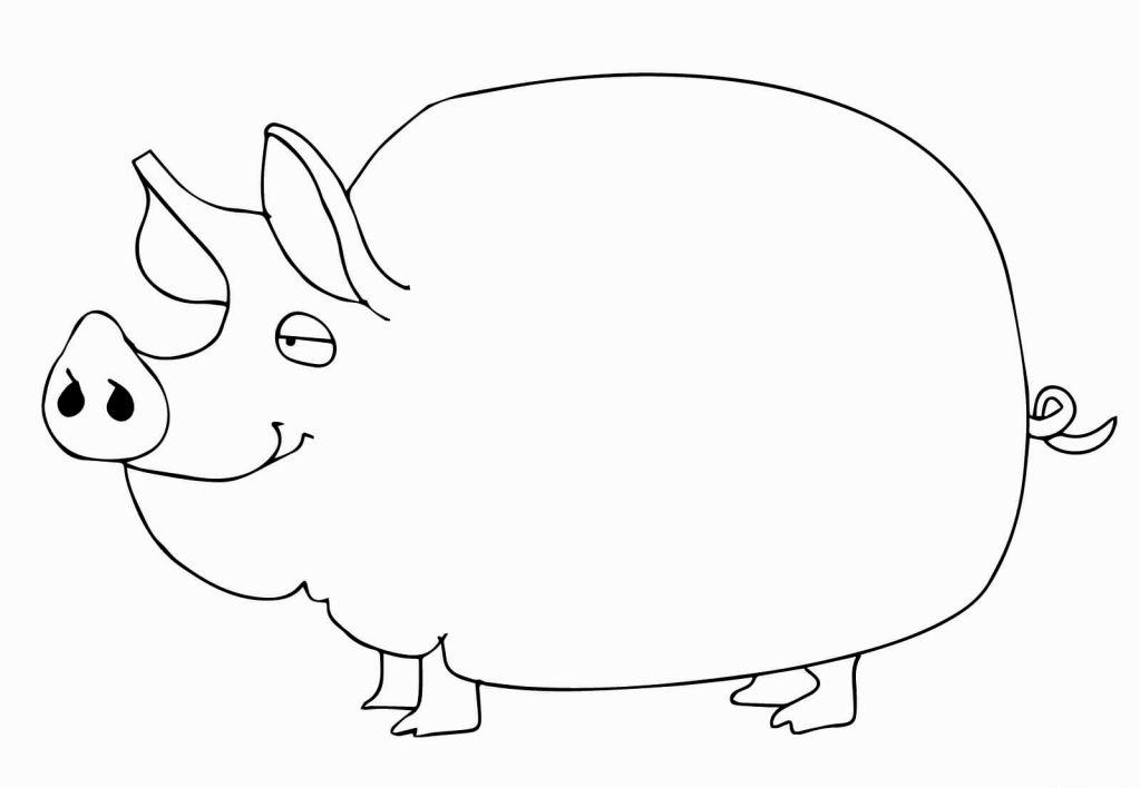 Смешные картинки свинок на новый год разукрашки, шаблоны открытки