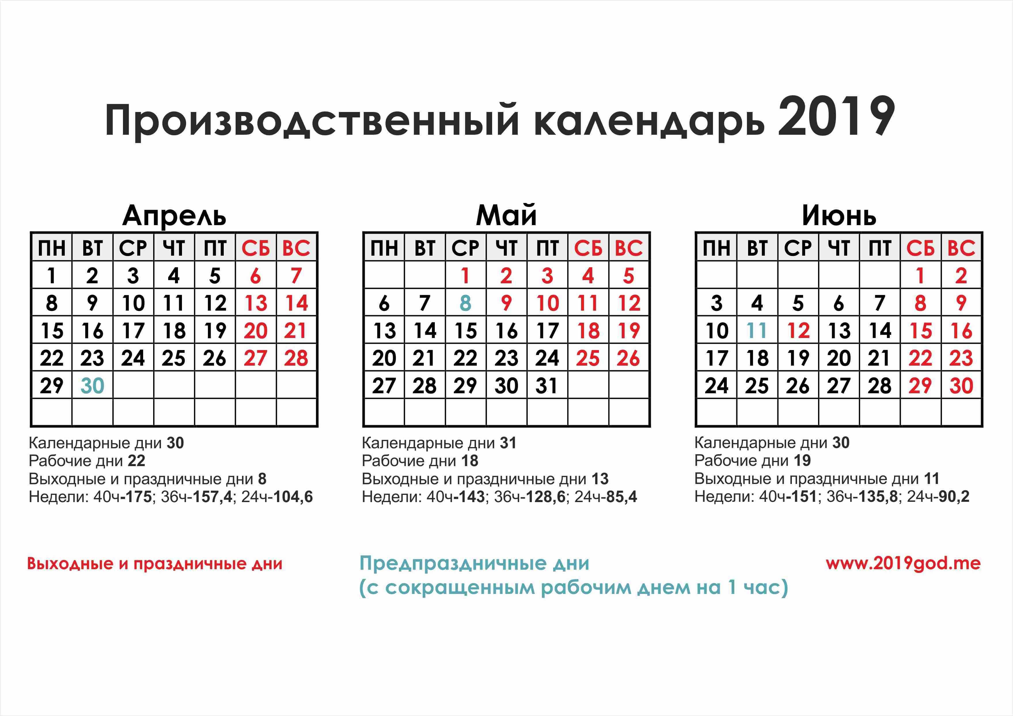 Производственный календарь на март 2019 с праздниками и выходными