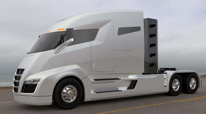 Компания Nikola представила новую модель грузовика на водородной установке