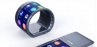 Выпущен смартфон-браслет с гибким дисплеем
