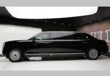 Лимузин Aurus представили на IDEX-2019